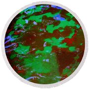 Poolwater Abstract Round Beach Towel