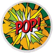 Pop Art 4 Round Beach Towel