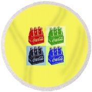 Pop Coke Round Beach Towel