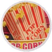 Pop Corn Round Beach Towel