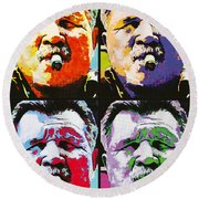 Pop Ditka Round Beach Towel