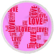 Pop Love 4 Round Beach Towel