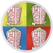 Popcorn Pop Art-jp2375 Round Beach Towel