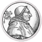 Pope Innocent Viii (1432-1492) Round Beach Towel