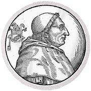 Pope Innocent Viii (1432-1492) Round Beach Towel