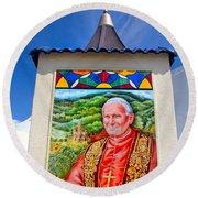 Pope John II Round Beach Towel