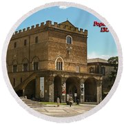 Popes Palace Round Beach Towel