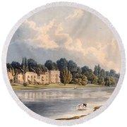 Popes Villa At Twickenham, 1828 Round Beach Towel