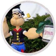 Popeye The Sailor Man Round Beach Towel