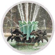 Popp Fountain In City Park New Orleans Round Beach Towel