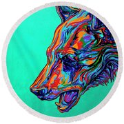 Poppa Bear Round Beach Towel