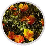 Poppies Will Make Them Sleep Round Beach Towel