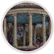 Popps Bandstand In City Park Nola Round Beach Towel
