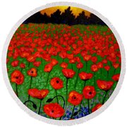 Poppy Carpet  Round Beach Towel
