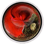 Poppy Globe Round Beach Towel