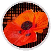 Poppy Passion Square Round Beach Towel