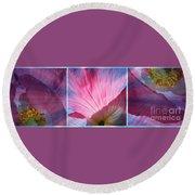 Poppy Rays Collage Round Beach Towel