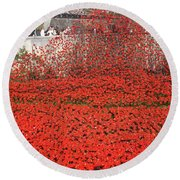 Poppy Tribute Of The Century. Round Beach Towel
