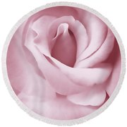 Porcelain Pink Rose Flower Round Beach Towel