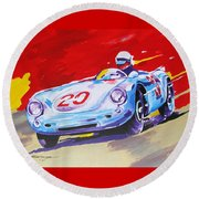 Porsche 550 Rs - 1956 Round Beach Towel