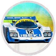 Porsche 956c - 118 Round Beach Towel