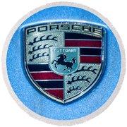 Porsche Round Beach Towel