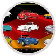 Porsche Times Nine Round Beach Towel