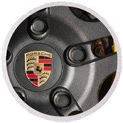 Porsche Vorsteiner Wheel Logo Round Beach Towel
