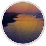 Port Aransas Sunset Round Beach Towel