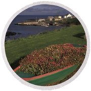 Port Ballintrea Round Beach Towel