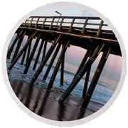 Port Hueneme Pier Askew Round Beach Towel