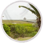 Port Lavaca Migratory Bird Stopover Round Beach Towel