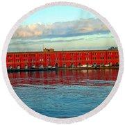 Port Of Naples Round Beach Towel