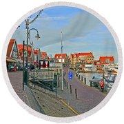 Port Of Volendam Round Beach Towel