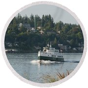 Port Orchard Foot Ferry Round Beach Towel