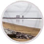 Port Talbot Steelworks Round Beach Towel