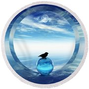 Portal To Peace Round Beach Towel by Richard Rizzo