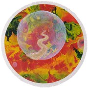 Portals And Dimensions Round Beach Towel