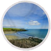 Porthcurnik Beach Cornwall Round Beach Towel