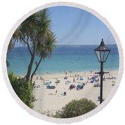Porthminster Cornwall Round Beach Towel
