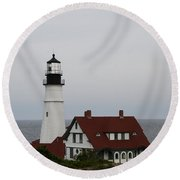Portland Head Light I Round Beach Towel