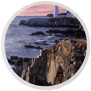 Portland Headlight Maine Round Beach Towel