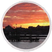 Portland Main Harbor Round Beach Towel