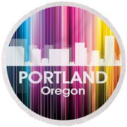 Portland Or 2 Round Beach Towel