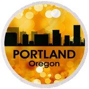 Portland Or 3 Round Beach Towel