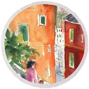 Portofino In Italy 04 Round Beach Towel