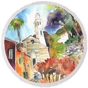 Portofino In Italy 05 Round Beach Towel