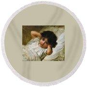 Portrait De Marie-louise  Round Beach Towel