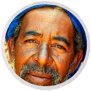 Portrait Of A Berber Man  Round Beach Towel