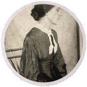 Portrait Of A Woman, C1895 Round Beach Towel